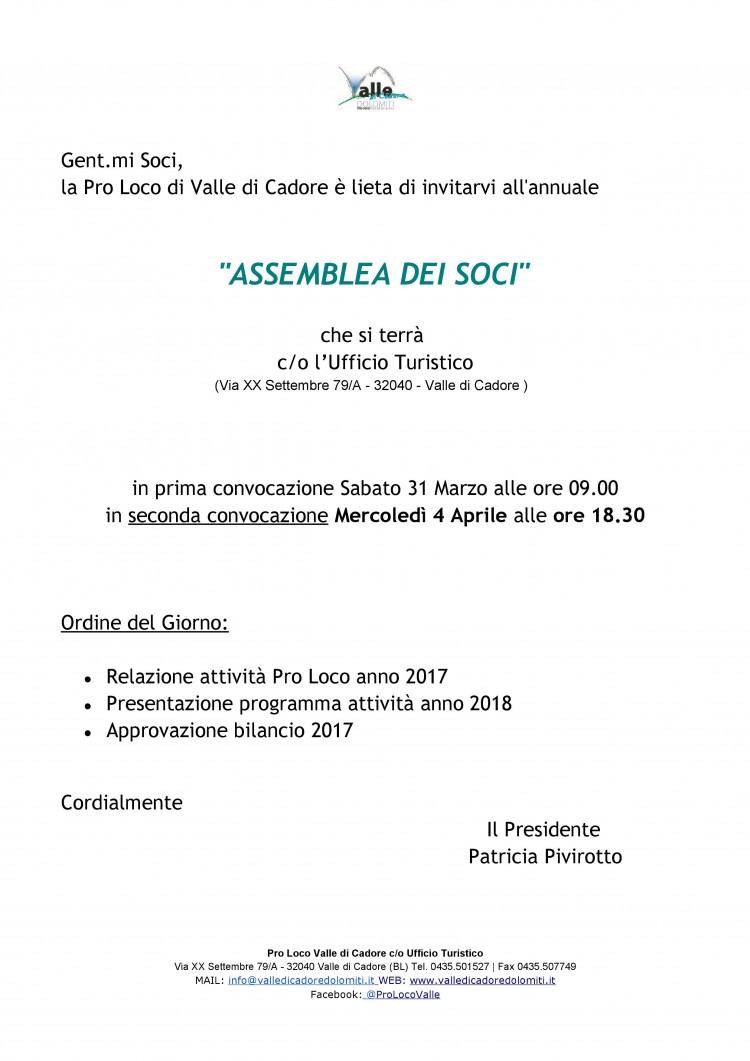 Locandina per assemblea