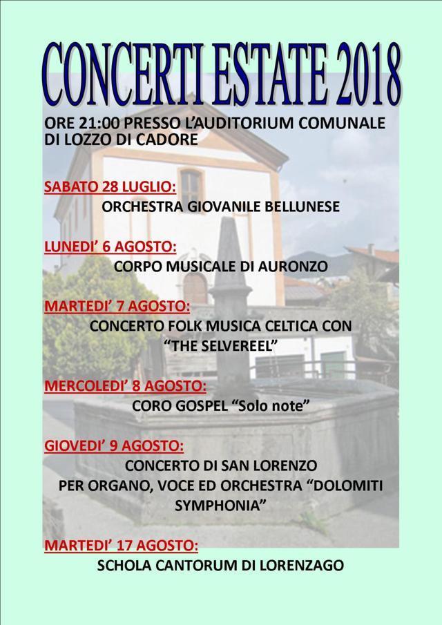 Concerti programma 2018 LOW